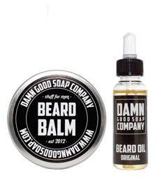 Damn Good Soap-Beard Balm & Oil Original Kit Zestaw Brodacza
