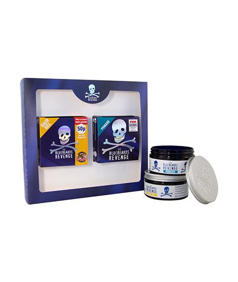Bluebeards Revenge-Slick and Shine Hair Kit Zestaw do Stylizacji Włosów
