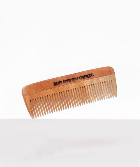 Damn Good Soap-Wooden Comb Pocketsize Drewniany Grzebień do Brody