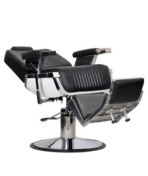 Italpro-Fotel Fryzjerski Barber Czarny