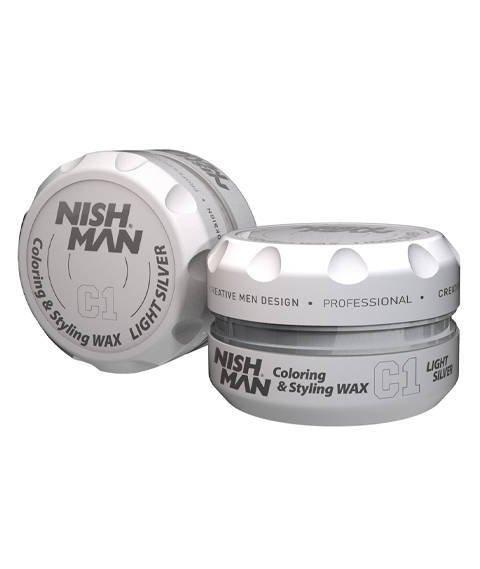 Nishman-Coloring & Styling Wax C1 Light Silver Pomada Koloryzująca 100 ml