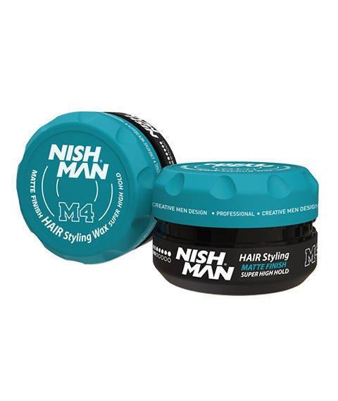 Nishman-M4 Matte Finish Hair Styling Wax Super High Hold Pomada do Włosów 100 ml