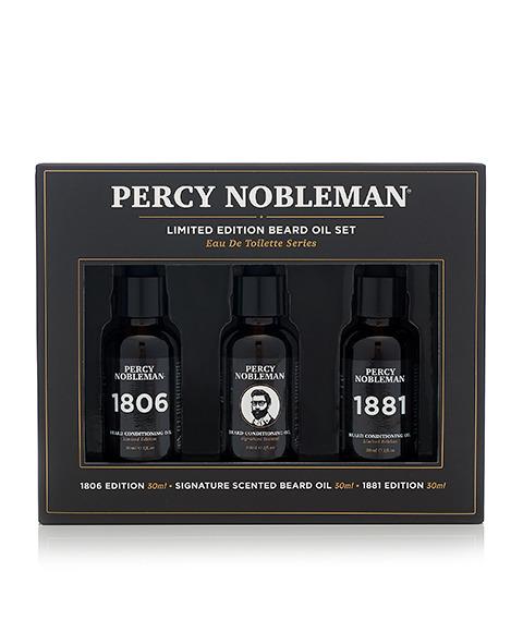 Percy Nobleman-Beard Oil Set Limited Edition Zestaw Olejków do Brody