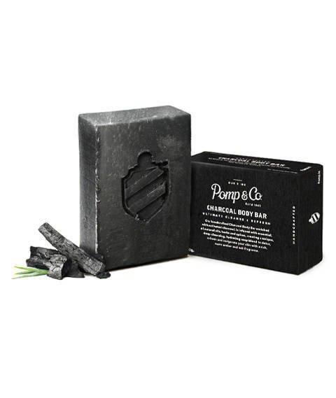 Pomp & Co.-Charcoal Body Bar Mydło do Ciała 130 g