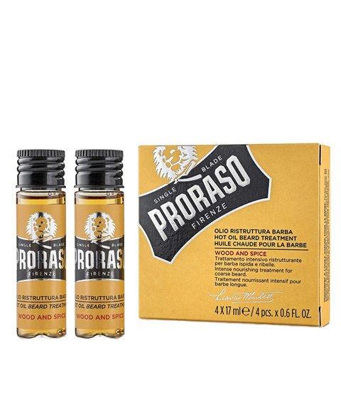 Proraso-Hot Oil Beard Treatment Olejek do brody 4x17 ml