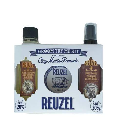 Reuzel-Try Me Kit Clay Zestaw Kosmetyków do Włosów