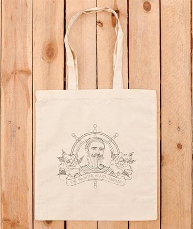 The Brighton Beard Co-Logo cotton shopper tote bag
